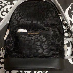 Michael Kors Leopard Nylon Backpack